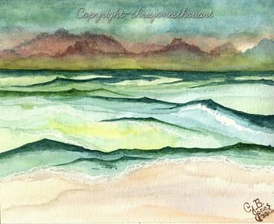 Painting - Beach Scene by Chris Bajon Jones