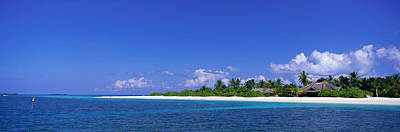 Sunbathers Photograph - Beach Scene Maldives by Panoramic Images