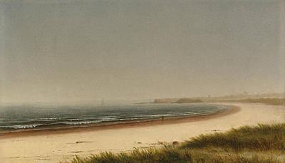 Augustus Painting - Beach Scene. Newport by James Augustus Suydam