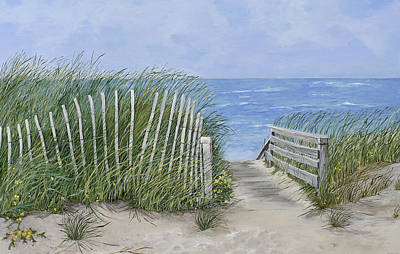 Cape Cod Painting - Beach Scene by Virginia McLaren