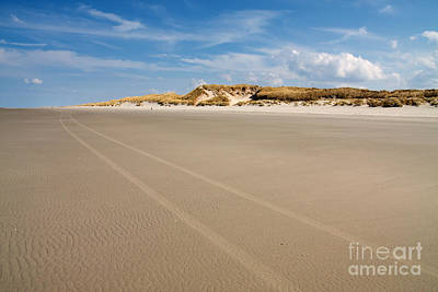 Beach Scene With Sand Dunes In The Background. Art Print by Jan Brons