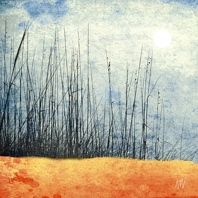 Beach Seaoats Art Print by Marc Ward Photography