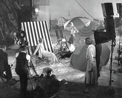 Behind The Scene Photograph - Beach Set For A Vogue Short Film by Edward Steichen
