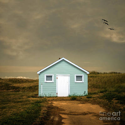Beach Shack Square Art Print by Edward Fielding