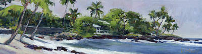 Haleiwa Painting - Beach Shadows Big Island by Stacy Vosberg