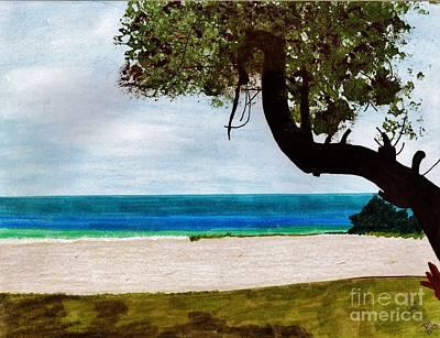 Drawing - Beach Side by D Hackett