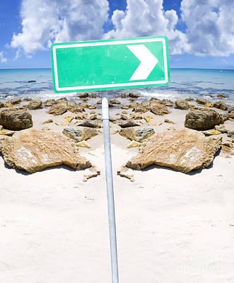 Beach Sign Art Print by Jorgo Photography - Wall Art Gallery