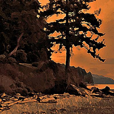 Photograph - Beach Silhouette by Stanley  Funk
