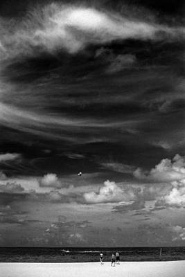 Art Print featuring the photograph Beach Sky People by Christopher McKenzie