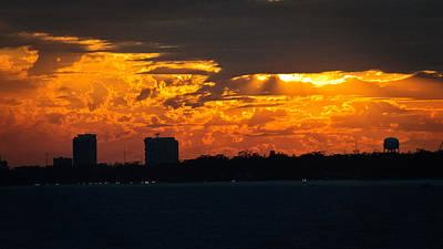 Photograph - Beach Skyline Sunset by George Taylor
