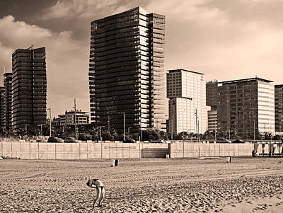 Photograph - beach, Barcelona by Stefano Buonamici