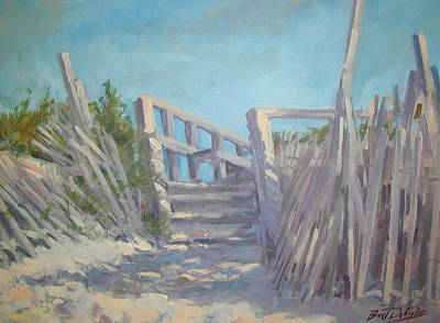 Painting - Beach Steps by Bart DeCeglie