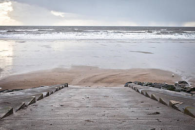 Beach Steps Art Print
