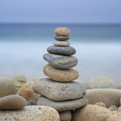 Beach Stones Art Print by Katherine Gendreau