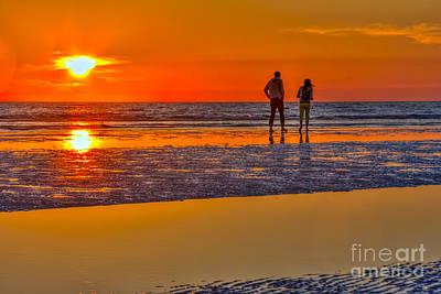 Seashore Photograph - Beach Stroll by Marvin Spates