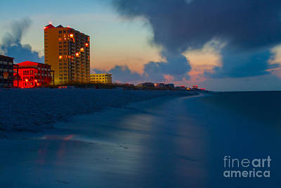 Photograph - Beach Sunrise Reflections by Ben Sellars