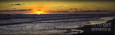 Photograph - Beach Sunset 101414 by Walt Foegelle