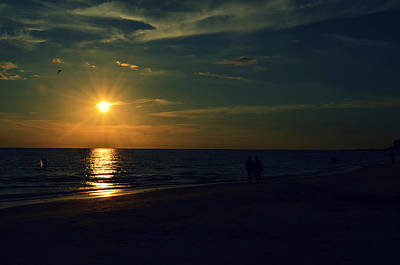 Sarasota Artist Photograph - Beach Sunset Afternoon Walk by Patricia Awapara