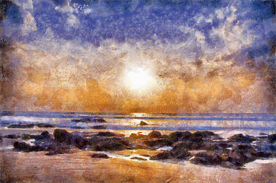 Digital Art - Beach Sunset by Beach Sunset