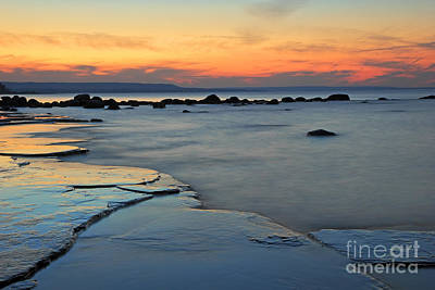 Photograph - Beach Sunset by Charline Xia