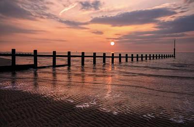 Beach Sunset Art Print by Ian Mitchell