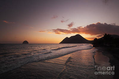 Tropics Photograph - Beach Sunset In The Caribbean by Matteo Colombo