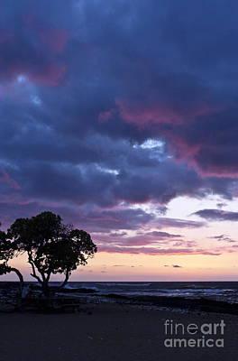Beach Sunset Art Print by Karl Voss