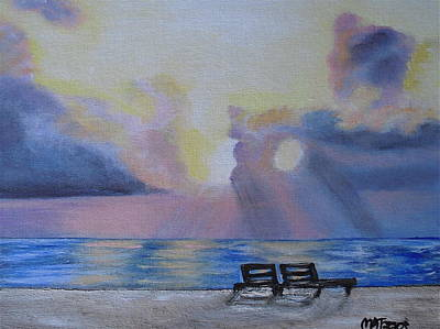 Beach Sunset Art Print by Melissa Torres