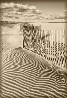 Photograph - Beach Textures In Sepia by Carolyn Derstine