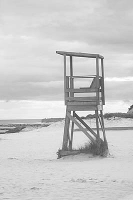 Beach Throne Harwich Ma Bw I Art Print by Suzanne Powers