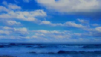 Beach Through Artificial Eyes Art Print