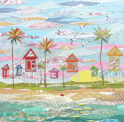 Beach Towns Painting - Beach Town by Jennifer Peck