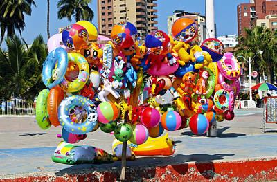 Photograph - Beach Toys At Manta Beach Ecuador by Kurt Van Wagner