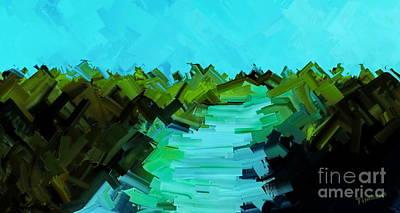 Digital Art - Beach Track 2 by Tim Richards