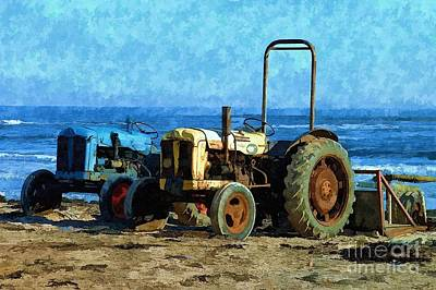 Beach Tractors Photo Art Art Print