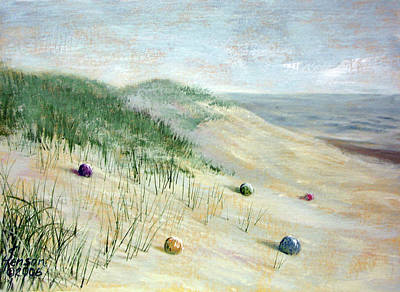 Art Print featuring the mixed media Beach Treasures by Kenny Henson