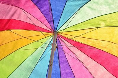 Photograph - Beach Umbrella 2 by Allen Beatty