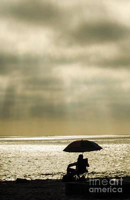 Beach Umbrella Art Print by Deborah Smolinske