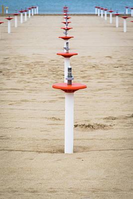 Photograph - Beach Umbrella by Deimagine
