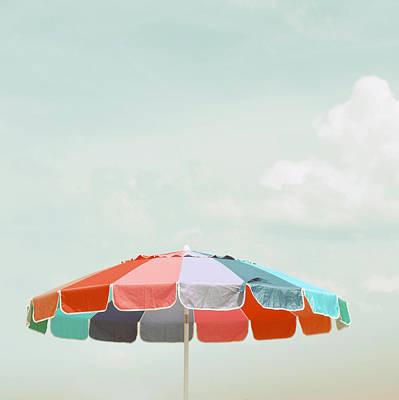 Beach Umbrella Art Print by Elle Moss