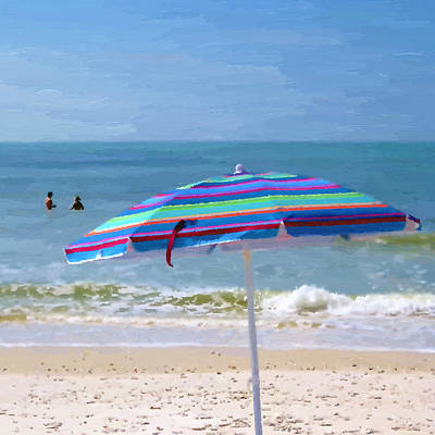 Photograph - Beach Umbrella by Heidi Hermes