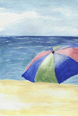 Painting - Beach Umbrella One by Jamie Frier
