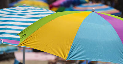 Beach Umbrella Rainbow 1 Art Print