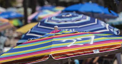 The Buffet Photograph - Beach Umbrella Rainbow 2 by Scott Campbell