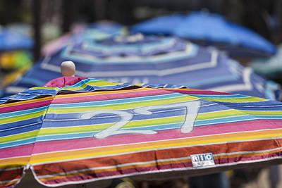 Beach Umbrella Rainbow 4 Art Print