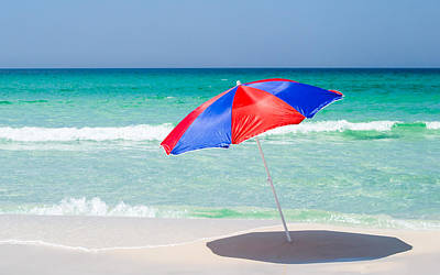 Photograph - Beach Umbrella by Shelby  Young
