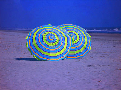 Beach Umbrellas By Jan Marvin Studios Art Print