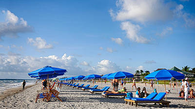 Photograph - Beach Umbrellas by Don Durfee