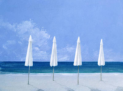 Umbrella Painting - Beach Umbrellas by Lincoln Seligman