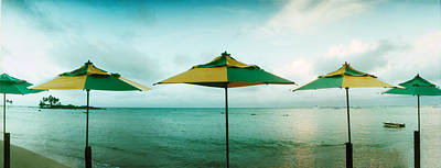 Sao Paulo Photograph - Beach Umbrellas, Morro De Sao Paulo by Panoramic Images